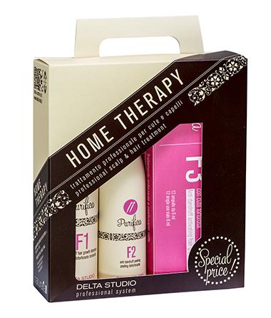 Эффективный набор домашней терапии для устранения перхоти и выпадения волос.
