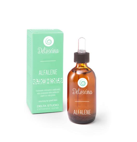 Лосьон Alfalene применять если кожа головы очень жирная и быстро салится