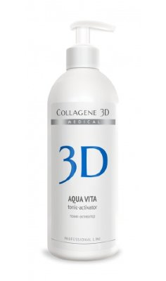Medical Collagen 3D Aqua Vita тоник-активатор коллагеновых биопластин